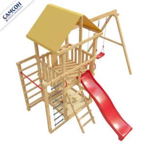 Детская площадка для дачи со столиком и лавочкой 5-й Элемент