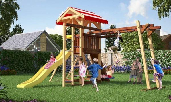 Детский игровой комплекс для дачи Савушка 10