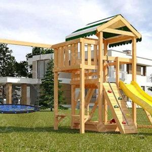 Детская площадка Савушка Мастер 2 + качели-гнездо