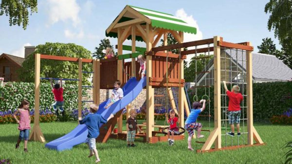 Детская площадка Савушка 15 + качели-гнездо