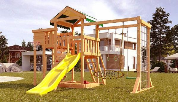 Детская площадка Савушка Мастер 4 + качели-гнездо