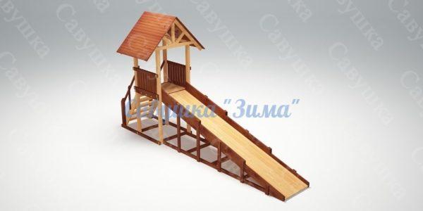 Зимняя деревянная игровая горка Савушка «Зима» — 5_1