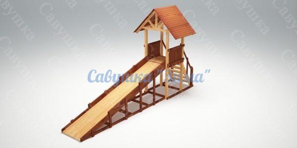 Зимняя деревянная игровая горка Савушка «Зима» — 5_2