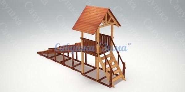 Зимняя деревянная игровая горка Савушка «Зима» — 5_4