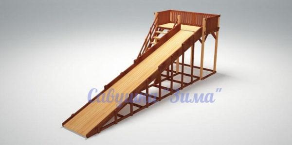 Зимняя деревянная игровая горка Савушка «Зима» — 6_1