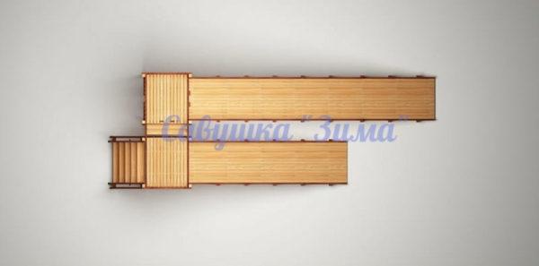 Зимняя деревянная игровая горка Савушка «Зима» — 7_5