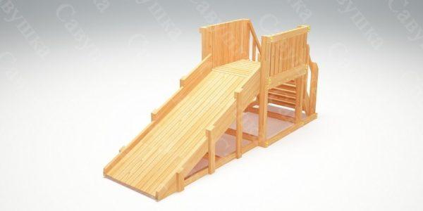 Зимняя деревянная игровая горка Савушка «Зима wood» — 1