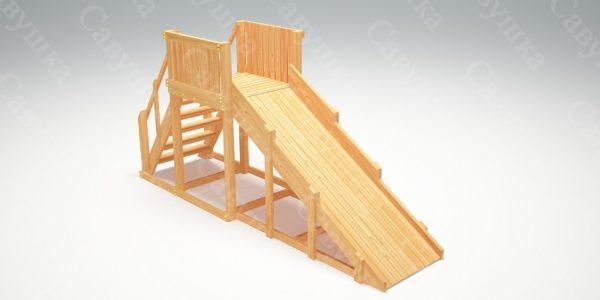 Зимняя деревянная игровая горка Савушка «Зима wood» — 2_4