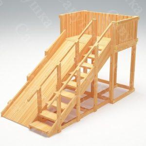 Зимняя деревянная игровая горка Савушка «Зима wood» — 3