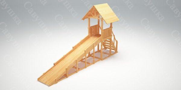 Зимняя деревянная игровая горка Савушка «Зима wood» — 5