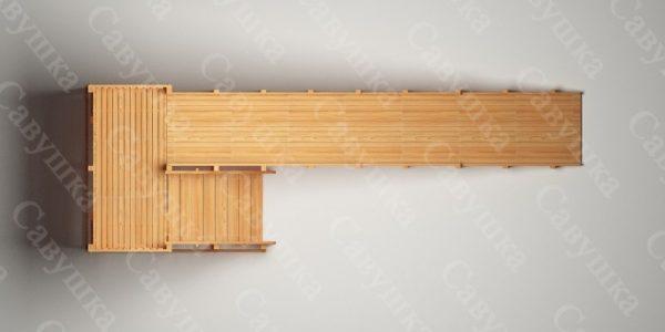 Зимняя деревянная игровая горка Савушка «Зима wood» — 6_4
