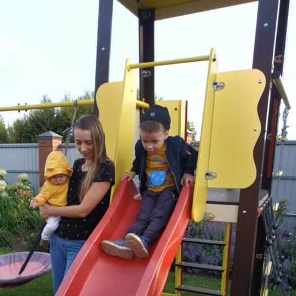 Детский спортивный комплекс для дачи ROMANA Избушка