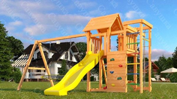 Детская площадка Савушка Мастер 10 + качели-гнездо