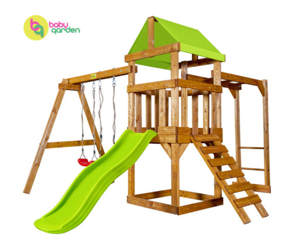 Детская игровая площадка Babygarden Play 3 (light green)
