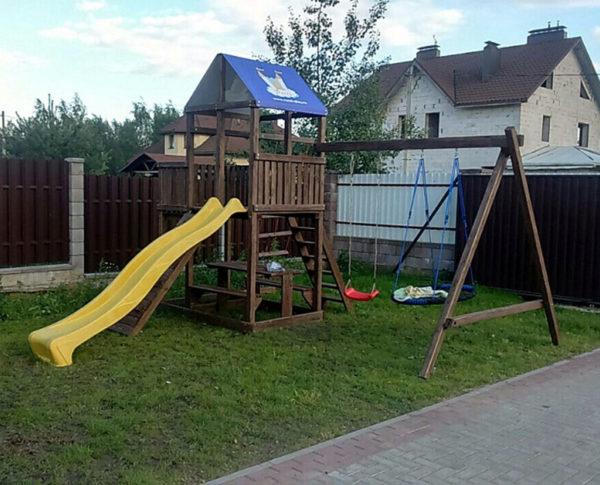 Детская площадка Росинка 2 плюс качели-гнездо