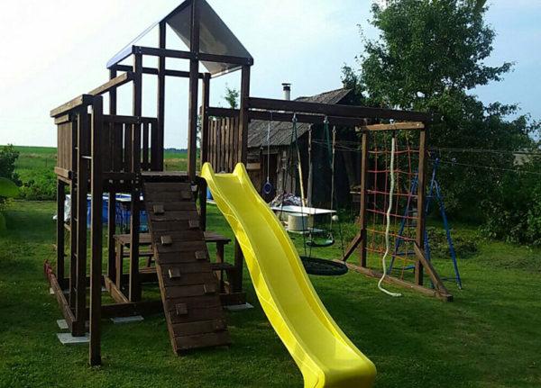 Детская площадка Росинка 5 плюс качели-гнездо