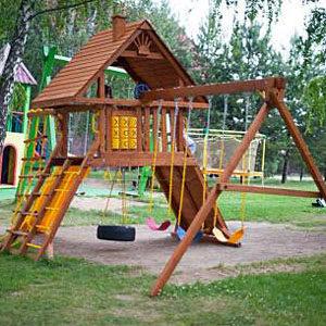 Детские игровые комплексы из дерева