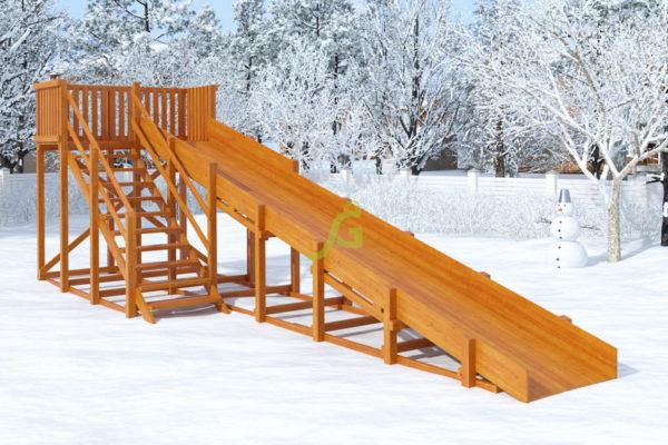 Зимняя горка Snow Fox скат 8 м