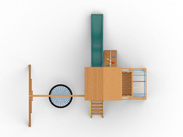 Детская игровая площадка Лео с гнездом_2