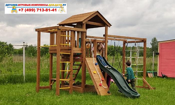 Детская площадка для дачи Лео макси окрашенная сборка