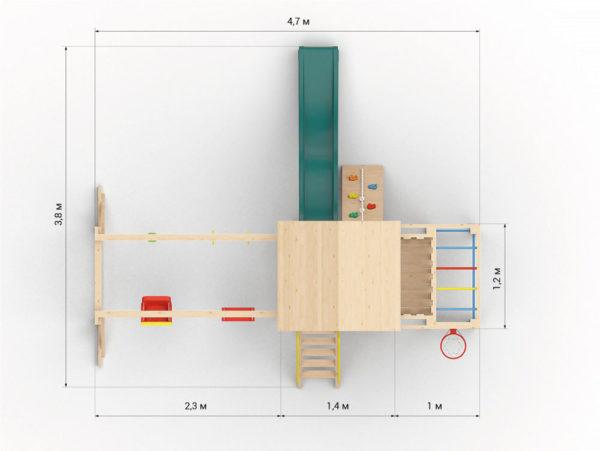 Детская площадка для дачи Лео макси_3