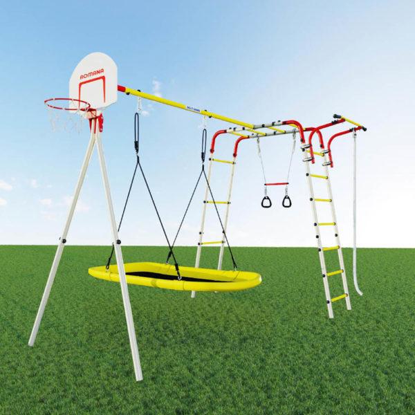 Детский спортивный комплекс для дачи ROMANA Акробат - 2 (качели лодка)