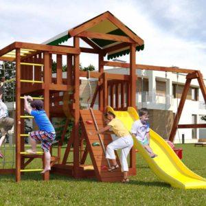 Детская площадка Савушка Мастер 3 (Махагон)-1