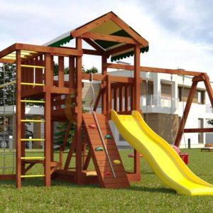 Детская площадка Савушка Мастер 3 (Махагон)